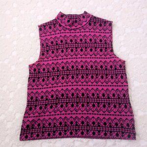 St. John Marie Gray M Pink Sweater Knit Tank Top